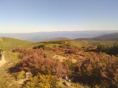 Le montagne alla Cruz de Ferro