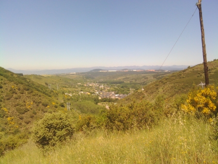 Arrivando a Molinasecca dall'alto