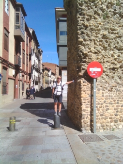 Io alla porta delle mura di Leon