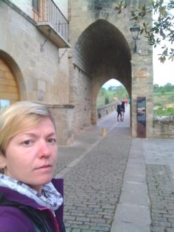 Selfie alla partenza a puente la reina