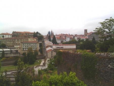 Vista a Santiago dall'albergue