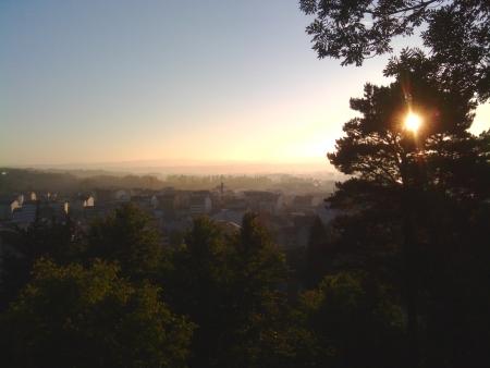 Stamattina partendo da Sarria alla luce dell'aurora